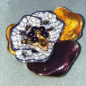 💜💛💜NWOT Joan Rivers flower brooch